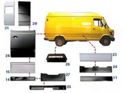 +375255194068  Купить кузовщину к T1 Mercedes 207-410 Bus. Недорого